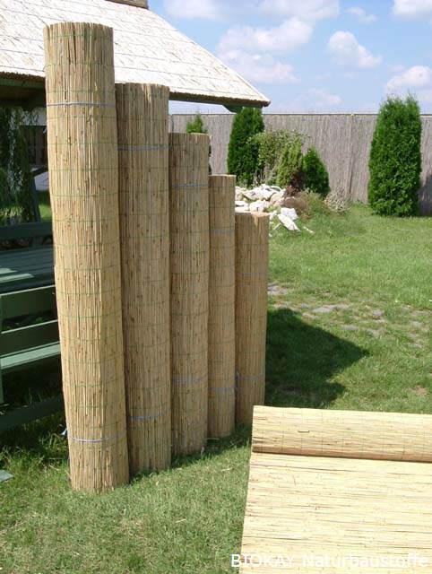 Biokay   natürliche dekorschilfmatten in rollen für ihren garten